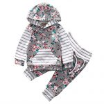 Baby-Girl-2pcs-Set-Outfit-Flower-Print-Hoodies-with-Pocket-TopStriped-Long-Pants-0-6M-Grey-0