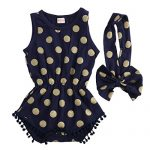 Baby-Girl-Clothes-Gold-Dots-Bodysuit-Romper-Jumpsuit-One-pieces-Outfits-Set-6-12-Months-Navy-Blue-0