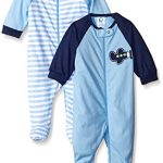 Gerber-Baby-Boys-2-Pack-Zip-Front-Sleep-N-Play-Transportation-3-6-Months-0